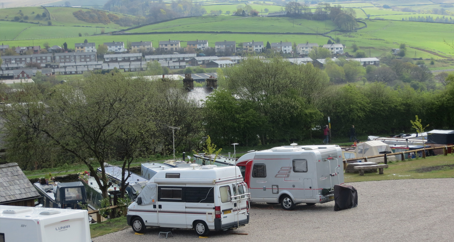 New Mills Marina Caravan Pitches